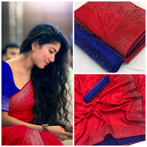 ADORABLE RED SANA SILK SAREE