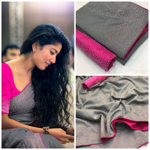 ADORABLE GREY SANA SILK SAREE