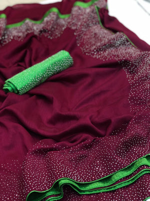 ADORABLE MAROON SANA SILK SAREE