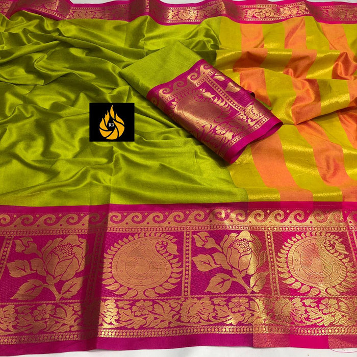 Trendy Attractive Cotton Silk Sarees
