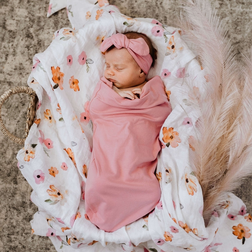 Jewel Snuggle Swaddle & Topknot Set