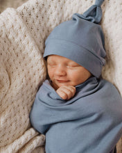 Load image into Gallery viewer, Indigo Snuggle Swaddle & Beanie Set