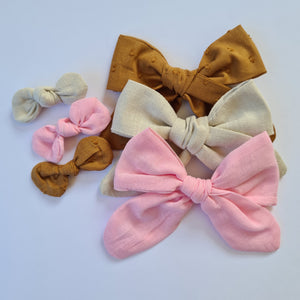 Knot Bow - Toffee Dot
