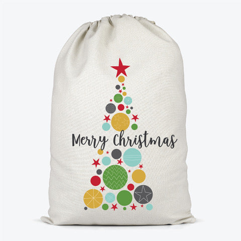 Christmas Bauble Tree Santa Sack