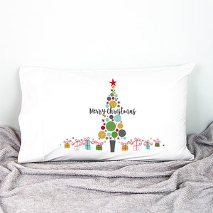 Christmas Bauble Tree Pillowcase