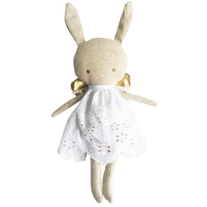 Linen Baby Angel Bunny Gold 24cm Plus