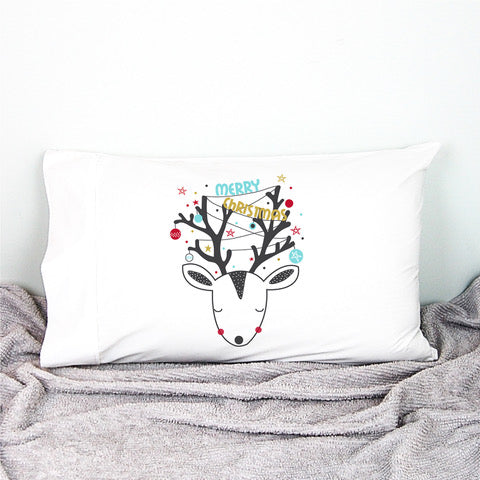 Christmas Reindeer Pillowcase