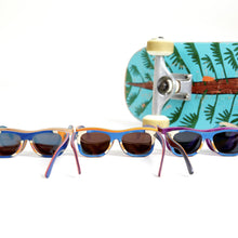 Load image into Gallery viewer, Reclaimed skateboard children's sunglasses - Purple