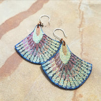 Textile and Leather Earrings