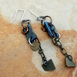 Original Leather and Metal Earrings