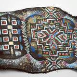 Hand Painted Leather Cuff Bracelet