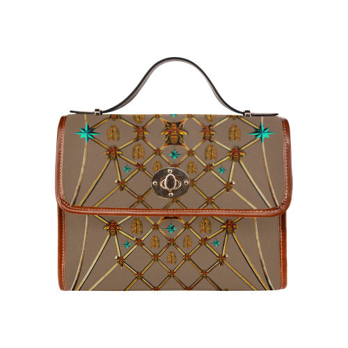 BEE Ribs & Teal STARS-Classic CLUTCH HANDBAG-Color CAMEL, COCOA, TAN, BROWN