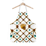 Gold Skull and Honey Bee- Teal Stars- Classic Apron in White