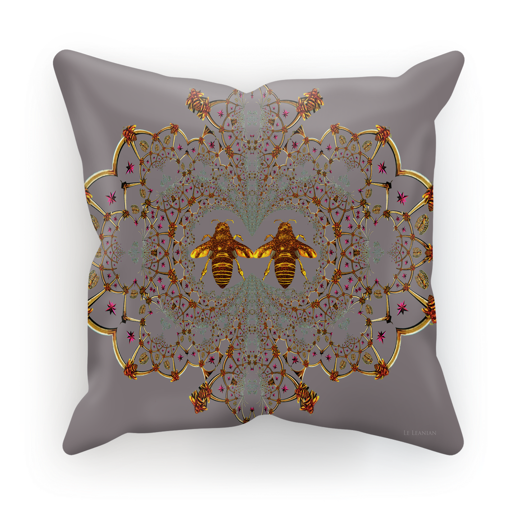 Baroque Honey Bee Satin Pillowcase- Lavender Steel Purple