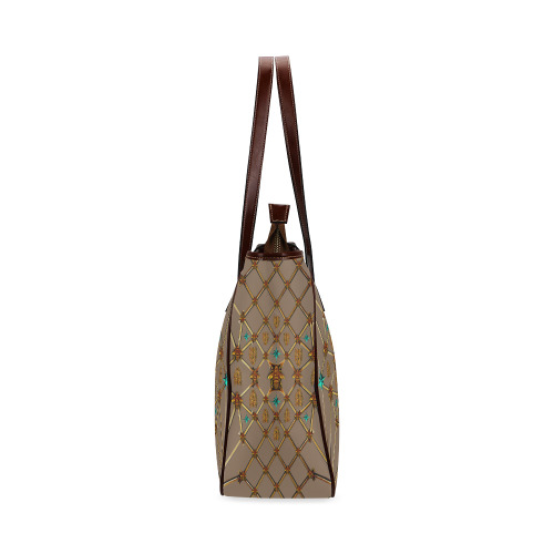 Bee Divergent- Classic French Gothic Upscale Tote Bag in Neutral Camel | Le Leanian™
