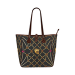 Skull and Magenta Stars-Honey Bee Pattern- Classic Shoulder Tote in Color Black