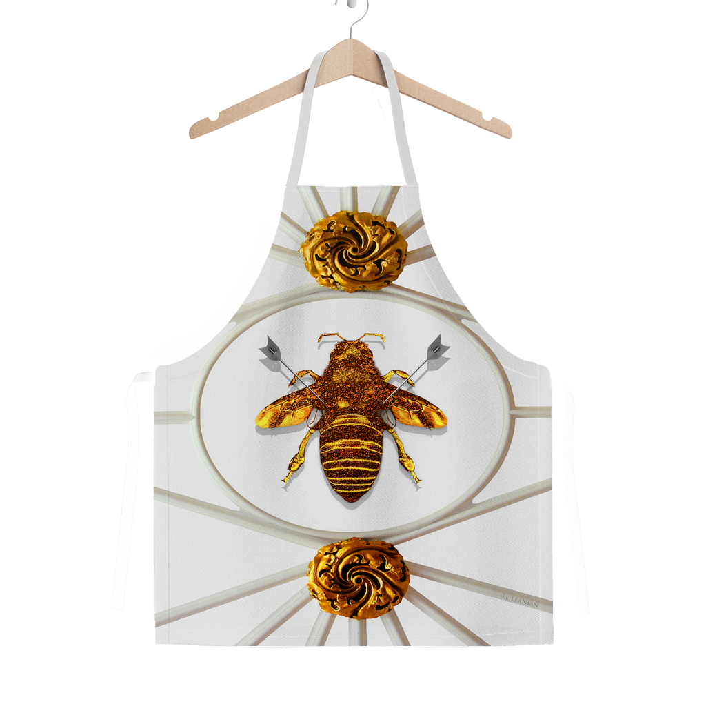 Versailles Bee Divergent- Classic French Gothic Apron in Lightest Gray | Le Leanian™