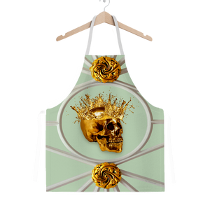 Golden Skull-Gothic French Chic- Classic Apron- Pastel Blue-Pale Blue Quail Egg Blue