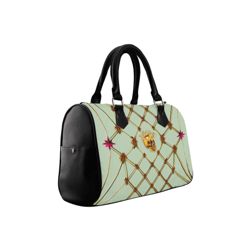 Skull & Honeycomb- French Gothic Boston Handbag in Pastel | Le Leanian™