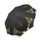 The Crossroad Crucifix- Semi Auto & Auto Foldable French Gothic Umbrella in Back to Black | Le Leanian™