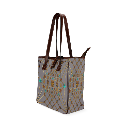 Gilded Bees & Ribs- Classic French Gothic Upscale Tote Bag in Lavender Steel | Le Leanian™