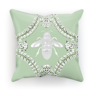 Queen Bee Baroque Satin Pillowcase- in Pastel Blue