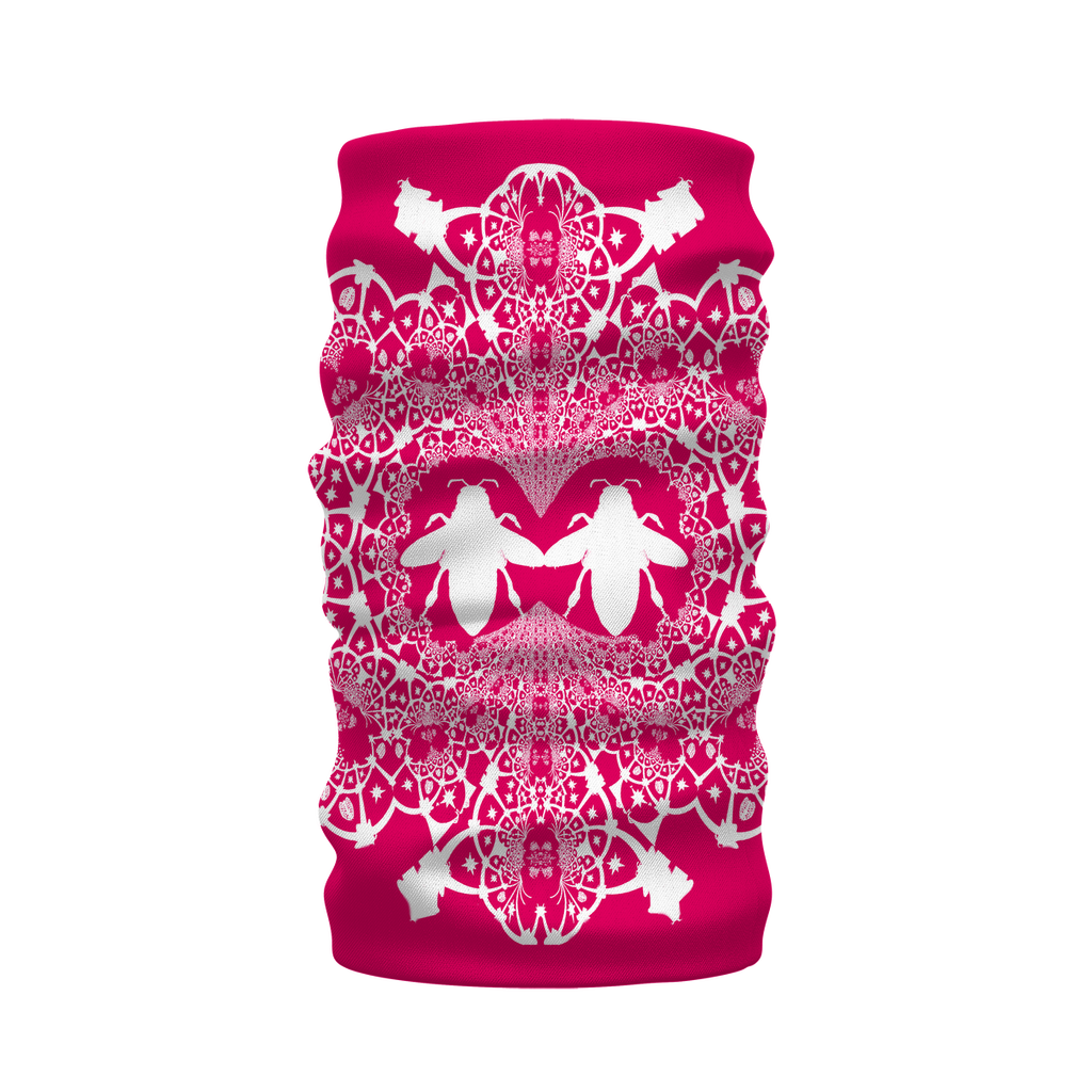 The Hive Relief- French Gothic Neck Warmer- Morf Scarf in Bold Fuchsia | Le Leanian™