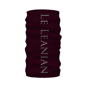 Skull and Honeycomb- French Gothic Neck Warmer- Morf Scarf in Eggplant Wine | Le Leanian™