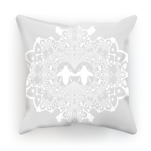 Baroque Honey Bee Relief Satin Pillowcase- French Gothic-Light Gray