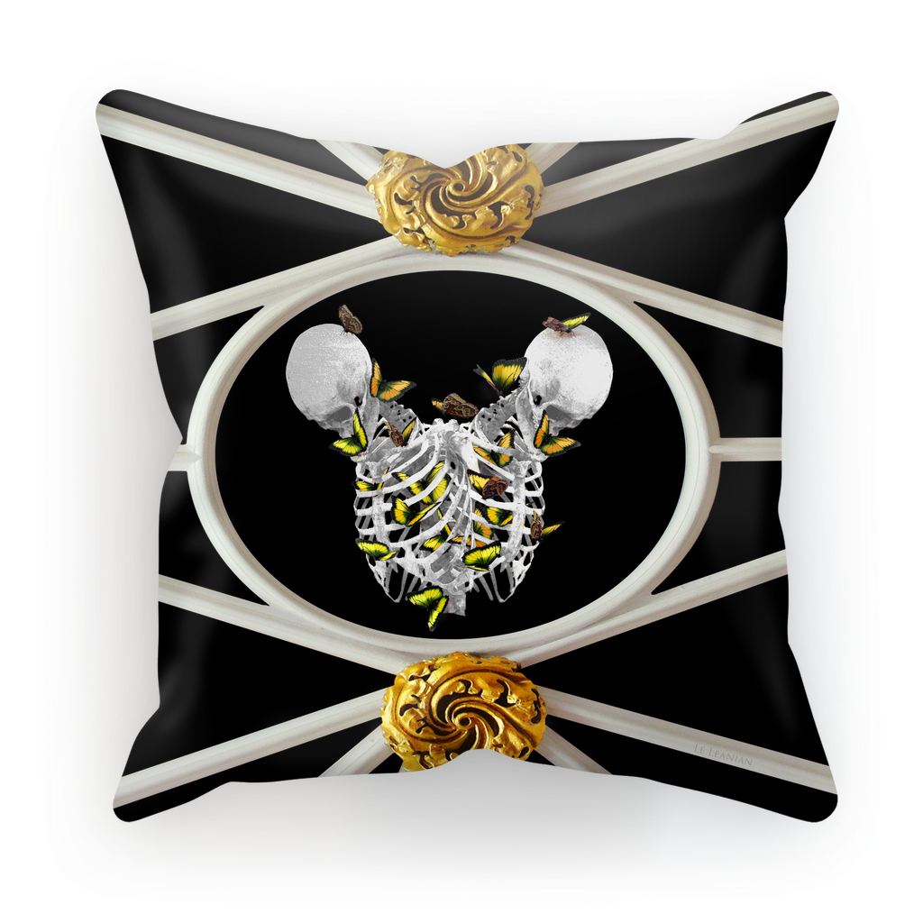 Versailles Siamese Skeletons with Gold Butterfly Rib Cage- in Black