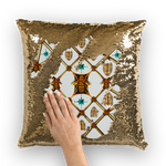 French Chic- French Country Chic- Gold Sequin- Royal Honey Bee Pillow Case- Cushion Cover in Color WHITE