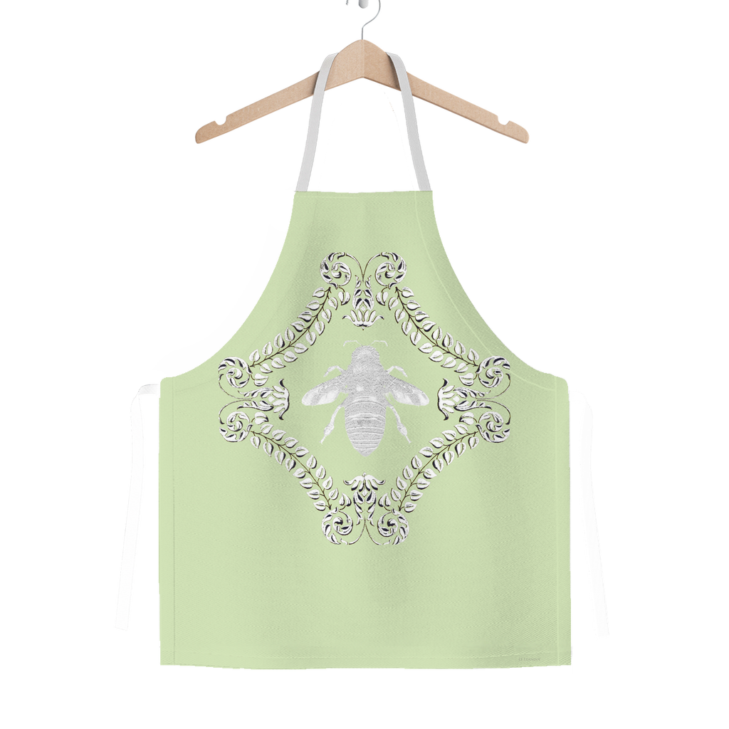Queen Bee- Classic French Gothic Apron in Pale Green | Le Leanian™