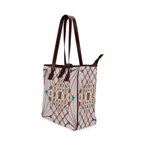 Gilded Bees & Ribs- Classic French Gothic Upscale Tote Bag in Nouveau Blush Taupe | Le Leanian™