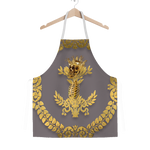 GOLD SKULL & GOLD WREATH-Classic APRON in Color LAVENDER STEEL, NEUTRAL PURPLE