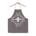 Queen Bee- French Country Chic- Classic Apron in Colors Lavender Steel, Lavender, Purple and White