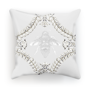 Queen Bee Baroque Satin Pillowcase- in Light Gray