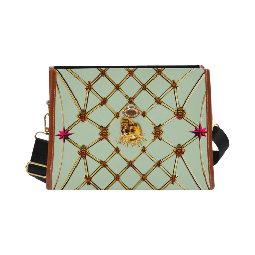 Skull and Honeycomb- Mini Brief Handbag in Pastel | Le Leanian™