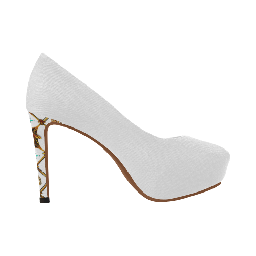 Gilded Bee- Women's French Gothic Heels in White | Le Leanian™