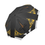 The Crossroad Crucifix- Semi Auto & Auto Foldable French Gothic Umbrella in Darkest Charcoal | Le Leanian™