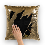 Crossroad Crucifix Gothic Sequin Pillowcase-Throw Pillow- Back to Black