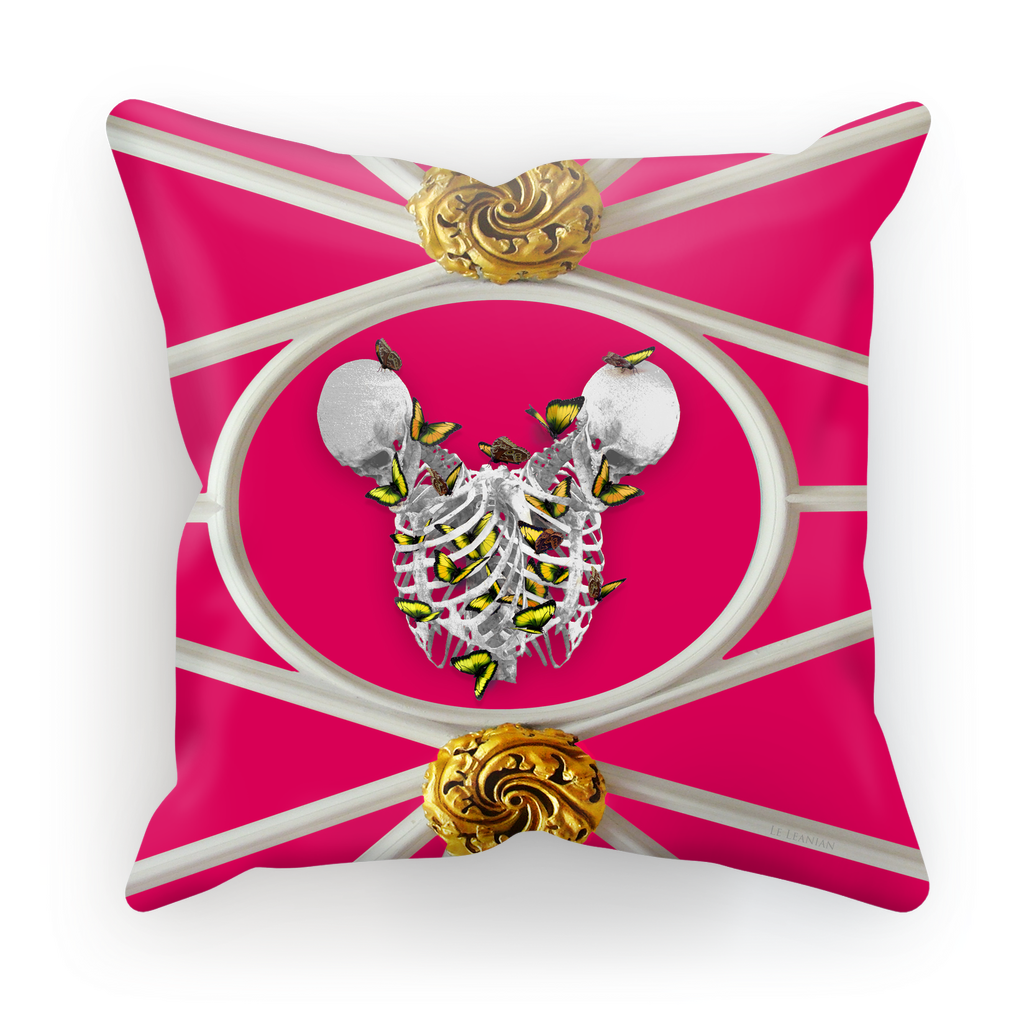 Versailles Siamese Skeletons with Gold Butterfly Rib Cage- in Fuchsia Pink