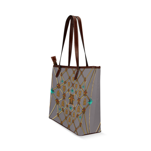 Gilded Bees & Ribs- Classic French Gothic Tote in Lavender Steel | Le Leanian™