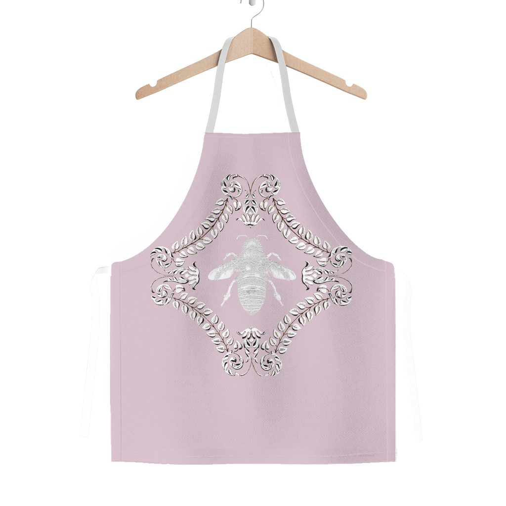 Queen Bee- French Country Chic- Classic Apron in Colors Blush Taupe, Light Pink and White