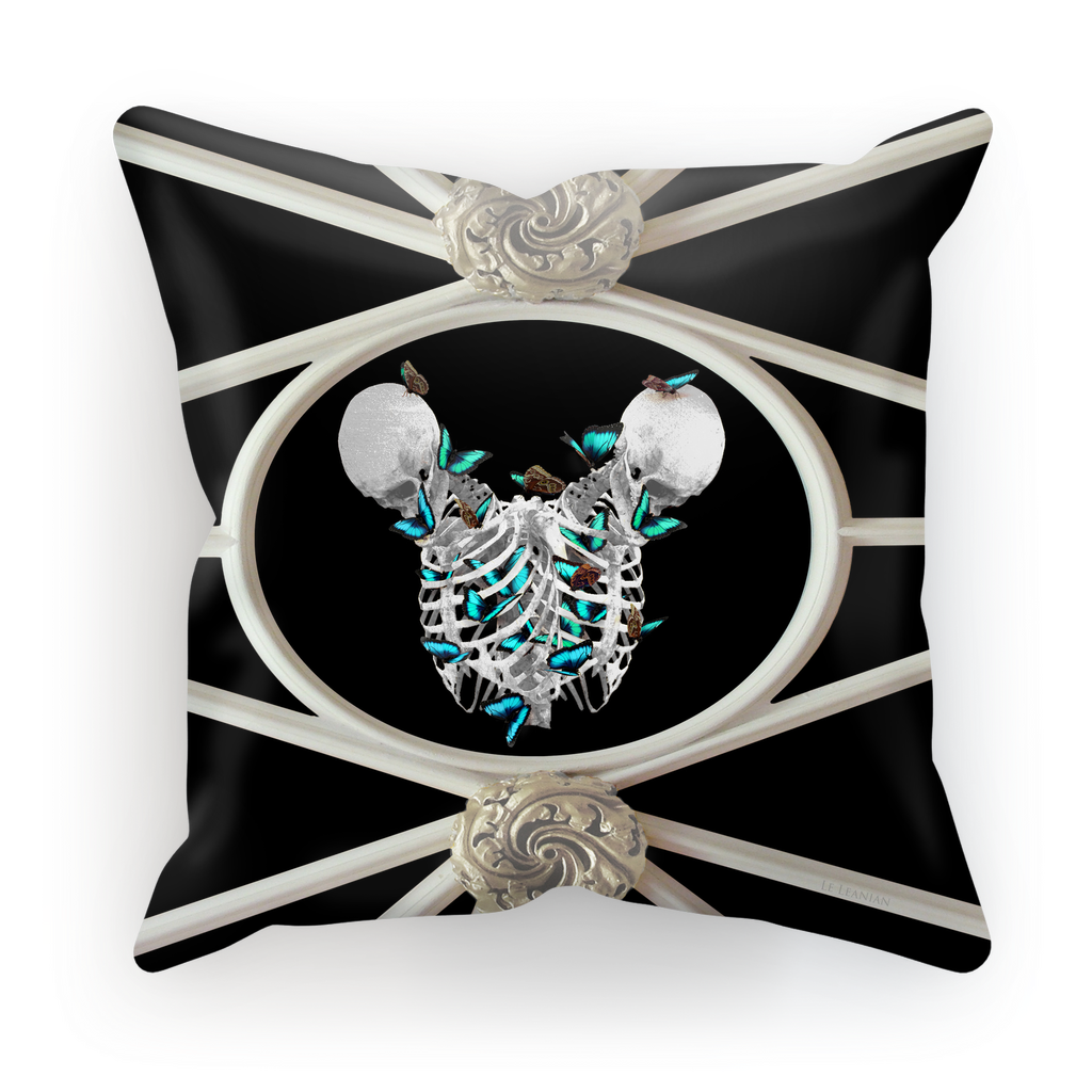 Versailles Siamese Skeletons with Teal Butterfly Rib Cage- in Black