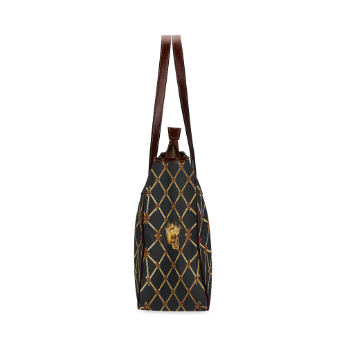 Skull & Honeycomb- Upscale Classic French Gothic Tote Bag in Back to Black | Le Leanian™