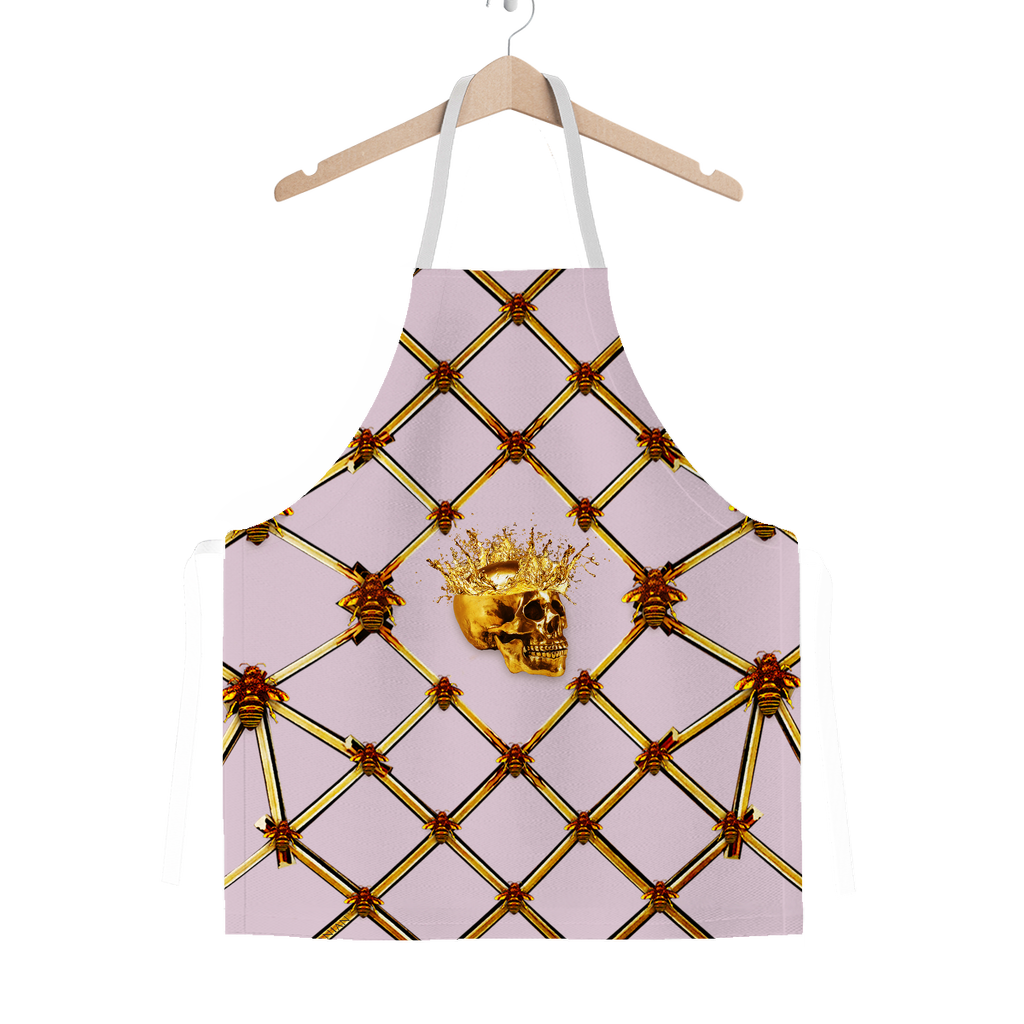 Skull Honeycomb- Classic French Gothic Apron in Nouveau Blush Taupe | Le Leanian™
