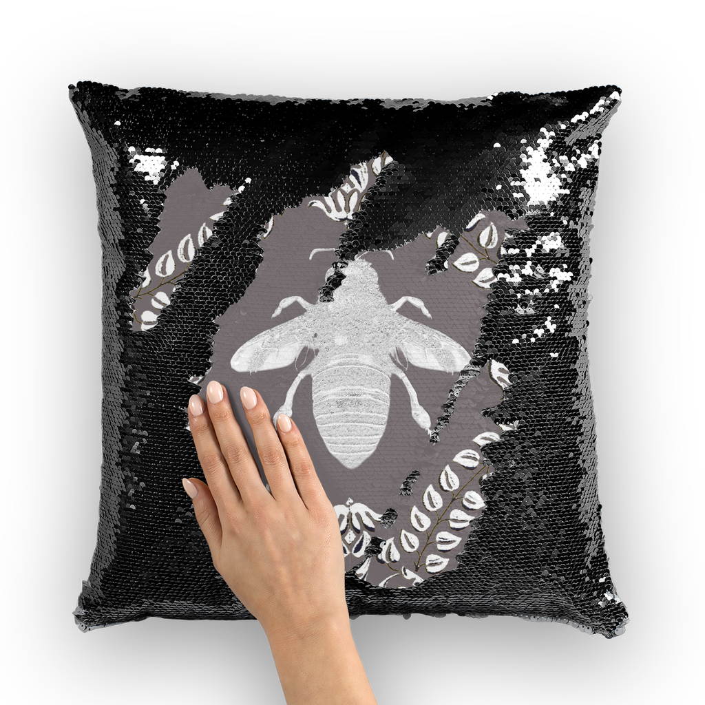 Queen Bee- French Gothic Sequin Pillowcase or Throw Pillow in Lavender Steel | Le Leanian™