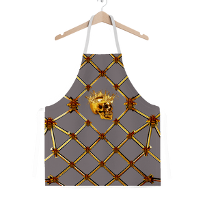 Skull Honeycomb- Classic French Gothic Apron in Lavender Steel | Le Leanian™