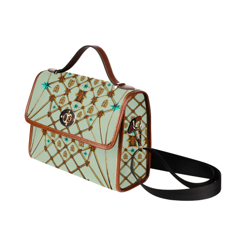 Gilded Bees & Ribs- Classic French Gothic Mini Brief Handbag in Pastel | Le Leanian™