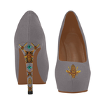 Gilded Bee- Women's French Gothic Heels in Lavender Steel | Le Leanian™
